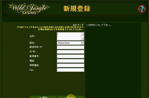 ワイルドジャングルカジノ登録6jpg